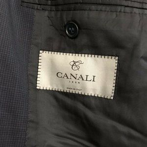 Canali Suits & Blazers - Canali Two Button Navy Blue Wool Suit Coat 46